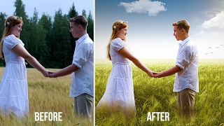 Couple Wedding Photos Editing Fantasy Look | Change Background | Edit Outdoor Portrait, Color Adjust