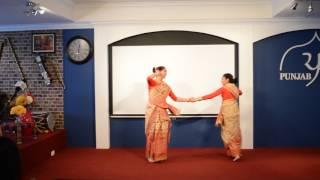 Shreya and Mahika Bihu dance to