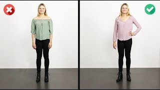 How To Widen Hips and Reduce Broad Shoulders   6 Outfits
