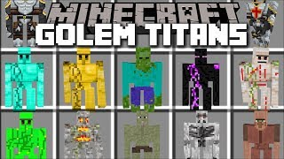 Minecraft TITAN GOLEM MOD / FIGHT TITANS AND HUGE GOLEMS!! Minecraft