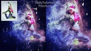 Photoshop Tutorial | Fracture Effect Photoshop Actions | Tasty Tutorials