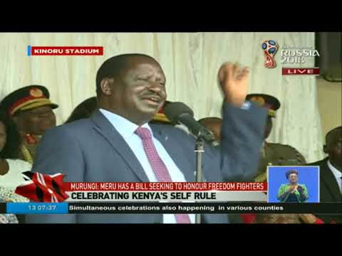 Raila Odinga's speech during Madaraka Day celebrations at Kinoru Stadium