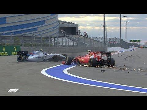 Bottas And Raikkonen Collide | 2015 Russian Grand Prix