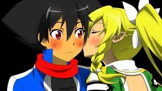 SpeedRePainting Kirito and Leafa to Ash and Leafa