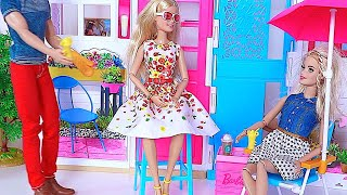 Barbie Doll & Ken BBQ Grill party Barbie Dollhouse * Stacie & Skipper POPCORN  movie toys for kids