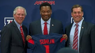 Kevin Sumlin introduced as Arizona football