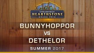 HS - Bunnyhoppor vs Dethelor - Round 9 - Hearthstone Grand Prix DreamHack Summer 2017