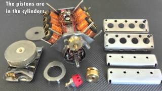 Solenoid engine V8