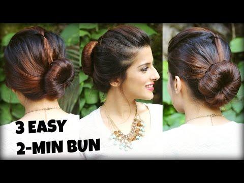 Xxx Mp4 3 EASY Bun Hairstyles For THIN LONG Hair Using A Bun Maker For College Work Perfect Bun Tutorial 3gp Sex