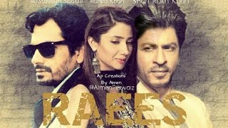 Raees Trailer ShahRukh khan Mahira Khan upcoming movie - Bollywood movies 2016 - 2017