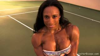 Jacked Pecs - Asha Hadley's Muscular Chest
