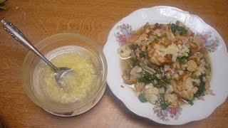 طبخ القرنبيط  مع الدجاج والمادة المضافة بالسلق لتحمينا من النفخة وطريقة تقديمه الزهرة