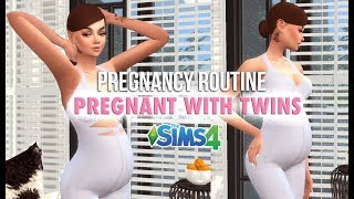 PREGNANT SIMS ROUTINE: A Day in the Life of Ashley Park | THE SIMS 4