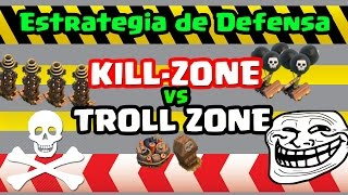 Kill Zone vs Troll Zone el Truco Para Defender Mejor y Evitar 3 Estrellas o Lograr un 98% y 99%