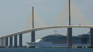 Brilliance of the Seas Under Sunshine Skyway Bridge Tampa 2015