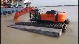 দেখুন পদ্মা ব্রিজের ভাসমান ভেকু । Floating Excavator of Padma Bridge Project