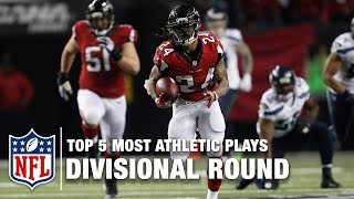 Top 5 Athletic Plays from the Divisional Round of the Playoffs | NFL