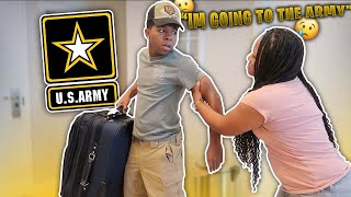 I TOLD MY MOM IM GOING TO THE ARMY *she cried*