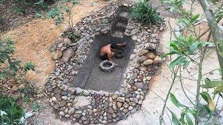 Primitive Life:Fish Pond-part3-Waterproofing!