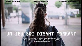 Un Jeu soit disant marrant - court métrage harcèlement Collège Périers