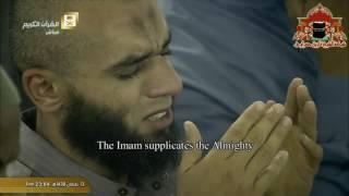 الشيخ بندر بليلة يبكي المصلين بدعاء مؤثر جدا في ليلة 14 رمضان 1438هـ