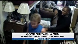 Armed Furniture Store Owner Turns the Tables on Would-Be Robber