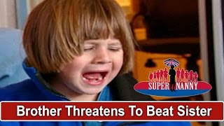 Brother Threatens To Beat Sister While Dad Sits On Computer   Supernanny