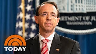 Rod Rosenstein Disputes Report He Considered 25th Amendment | TODAY