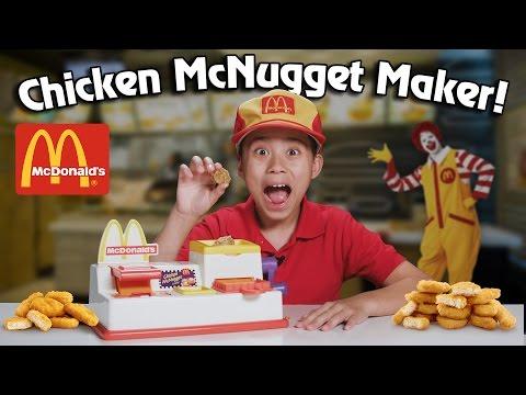 watch McDonald's CHICKEN McNUGGET MAKER!!! Turn Bread Into Chicken!