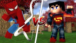 SPİDERMAN SET VS SUPERMAN SET (Minecraft)