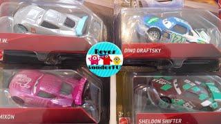 Cars 3 Sheldon shifter Sputter Stop#92, Rich Mixon tank coat #36, Dino Draftsky clutch aid #121