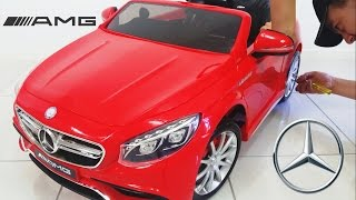 Mercedes Benz S63 AMG Ride On Car Toy 12 Volt Unboxing diy