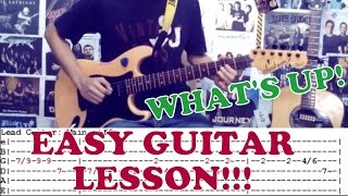 What's Up - 4 Non Blondes(Solo)(Easy Guitar Lesson/Cover)with Chords and Tab
