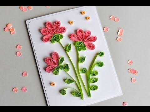 Xxx Mp4 How To Make Greeting Card Quilling Flowers Step By Step Kartka Okolicznościowa 3gp Sex