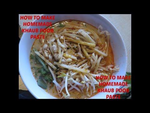 HOW TO MAKE HOMEMADE KHAUB POOB PASTE (HMONG VOICEOVER)