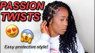 PASSION TWISTS! | I FINALLY DID SOME!!!! | EASY PROTECTIVE STYLE!