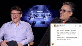 """Avengers: Endgame Interviews - Anthony And Joe Russo Answer A """"fan"""" Question From Josh Brolin"""