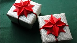 Origami flower - оригами цветок звезда -  Gift wrapping and decoration. Easter ideas