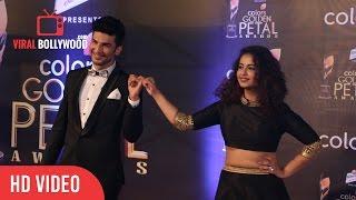 Avika Gor And Manish Raisinghan At Colors Golden Petal Awards 2017   Viralbollywood