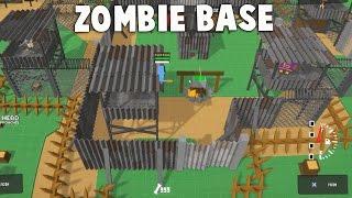 MASSIVE ZOMBIE INVASION!  Zombie Base Simulator Game (Don't Bite Me Bro Gameplay 100 Zombies)