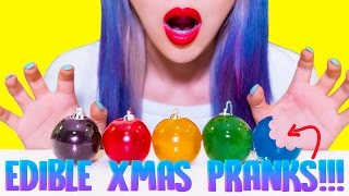 DIY EDIBLE CHRISTMAS PRANKS You Should Try On Friends and Family!!