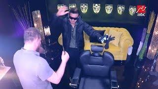 رامز جلال يرقص على مهرجان لا لا استعدادا لحلقة جوهرة فى رامز تحت الصفر