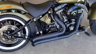 Harley Davidson Softail Slim S with Bassani Firesweep exhaust
