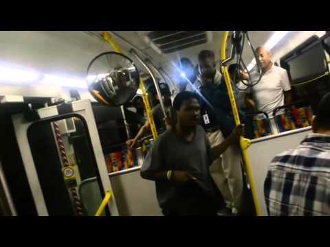 Fight on Metro bus Guy fight s the wrong person