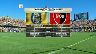 Fútbol en vivo. Central - Newell's. Fecha 2. Primera División 2016.