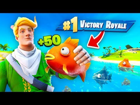 LITERALLY ONLY EATING FISH TO WIN Challenge