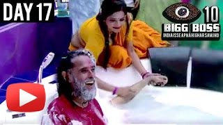 Monalisa & Lopa Give Bath To Swami Om | Bigg Boss 10 : Day 17 Full Episode Update