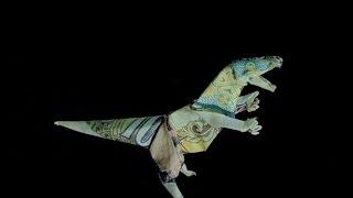 How to fold a Money Origami T.Rex / Hướng dẫn gấp Khủng long bạo chúa từ tiền Việt