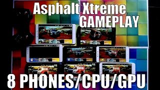 Asphalt Xtreme gameplay on 8 Android smartphones with Snapdragon 821/820/650/430/Helio X20/P10/MTK
