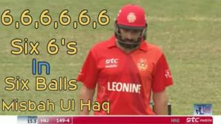 Misbah Ul Haq 6 ball 6 six